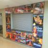 Printed wall graphics applied to Cinder block wall